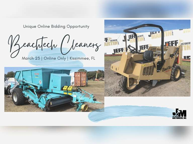UNIQUE ONLINE BIDDING OPPORTUNITY: (2) BEACHTECH CLEANERS BIDDING CLOSES MARCH 23RD