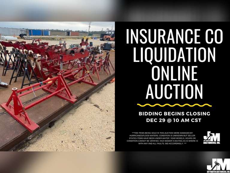 ONLINE ONLY INSURANCE LIQUIDATION AUCTION