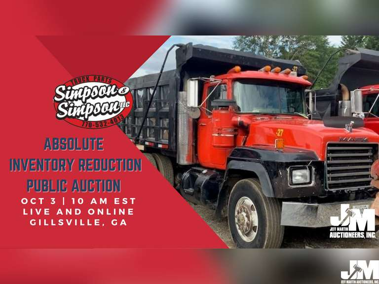 CONSTRUCTION EQUIPMENT, TRUCKS, TRAILERS, RELATED ITEMS- SIMPSON