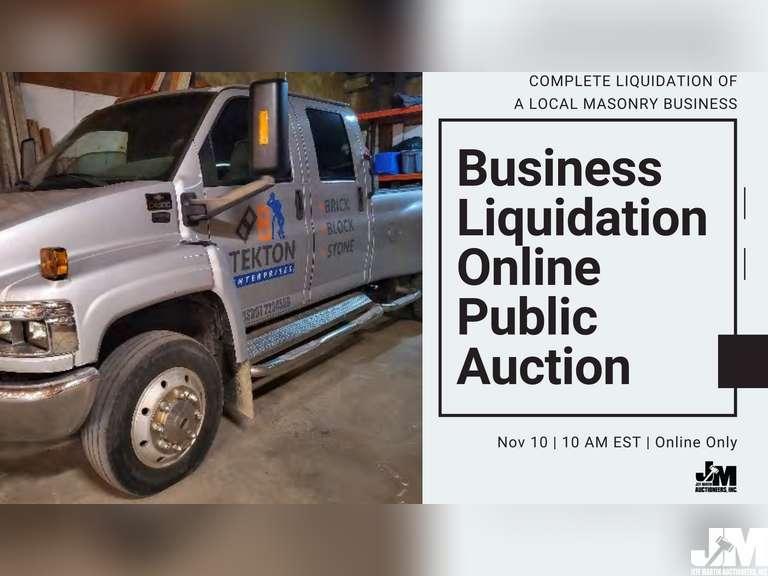 BUSINESS LIQUIDATION ONLINE PUBLIC AUCTION