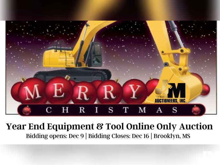 YEAR END EQUIPMENT & TOOL ONLINE AUCTION