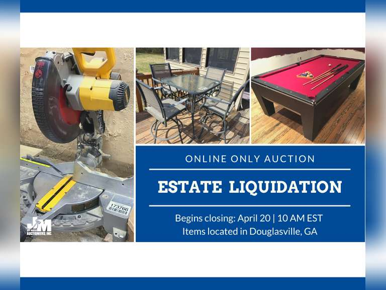 ONLINE ESTATE LIQUIDATION AUCTION - BIDDING OPENS FRIDAY,  MARCH 19TH