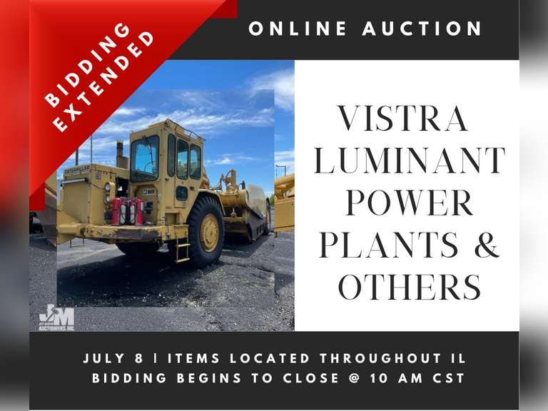 ONLINE AUCTION FOR VISTRA/LUMINANT POWER PLANTS & OTHERS- BIDDING STARTS JUNE 30TH @ 10 AM CST