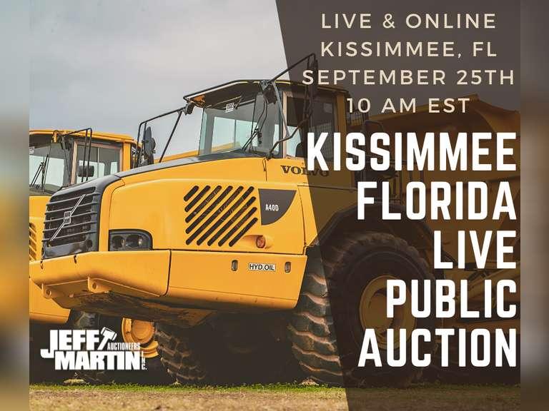 2021 FALL KISSIMMEE FLORIDA LIVE PUBLIC AUCTION-SEPT. 25, 10 A.M. EST