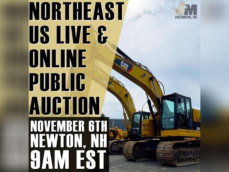 NORTHEAST US LIVE & ONLINE PUBLIC AUCTION - NEWTON, NH - NOVEMBER 6TH @ 10 AM EST