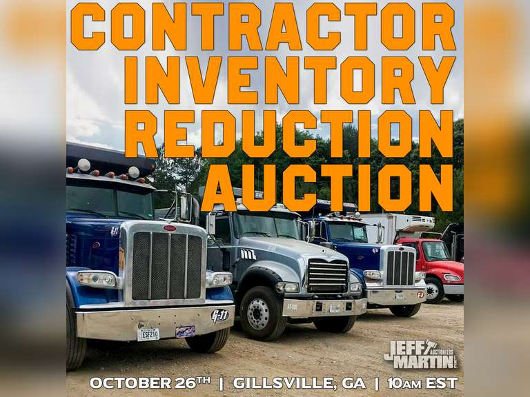 CONTRACTOR INVENTORY REDUCTION AUCTION - SIMPSON & SIMPSON AND OTHERS- OCTOBER 26TH @ 10 AM EST