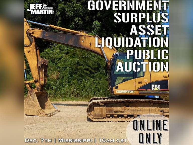 GOVERNMENT SURPLUS ASSET LIQUIDATION ONLINE ONLY AUCTION- BIDDING BEGINS CLOSING DECEMBER 7TH @ 10 AM CST