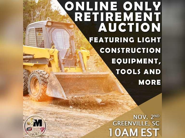 ONLINE ABSOLUTE RETIREMENT AUCTION- BIDDING OPENS OCTOBER 27TH @ 10 AM EST