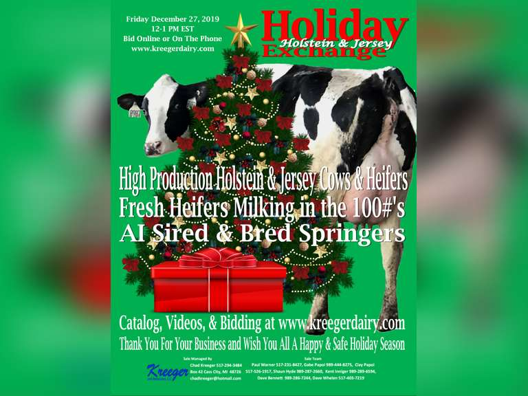 Holiday Holstein & Jersey Exchange