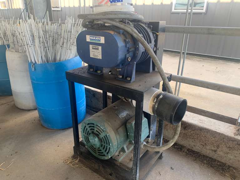 SOLD......SOLD......Waikato Vacuum Pump w/ Drive  SN: S5376658   30 HP   3 Phase  Removed By and Ready To Load  Located in Cordele, GA  Priced at $4500 at the dairy  For more information contact: Clay Papoi 517-526-1917