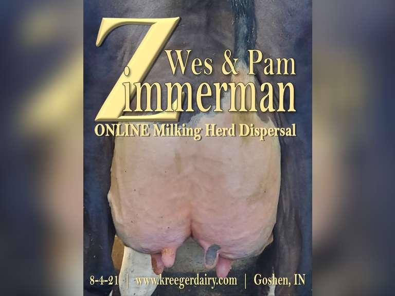 Wes & Pam Zimmerman Milking Herd & Springer Dispersal