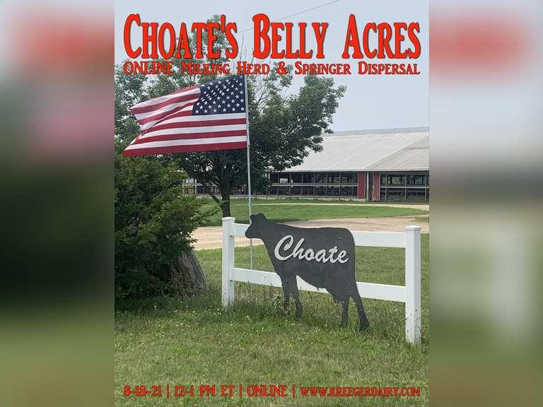 Choate's Belly Acres Milking Herd & Bred Heifer Dispersal