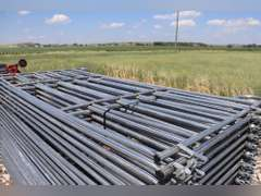 "New 10x5ft. portable corral panels, easy Connect, 1 1/4"", 14 Gauge Tubing, 80lbs A Panel, sold 10 x bid"
