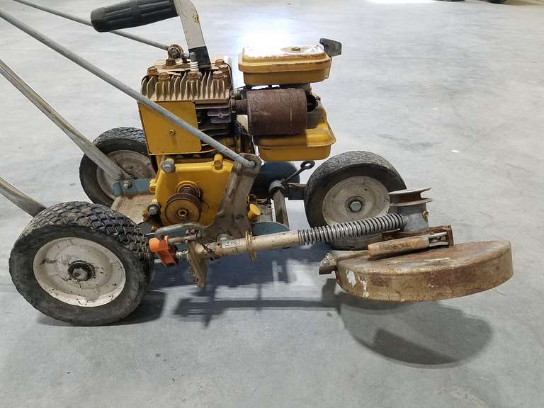 Wards Edger/Trimmer W/ Powr-Kraft 2 HP Motor - Needs Belt, Not Tested