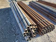 """(60) 9 FT x 2 7/8""""s Oilfield Pipe Fence Posts"""