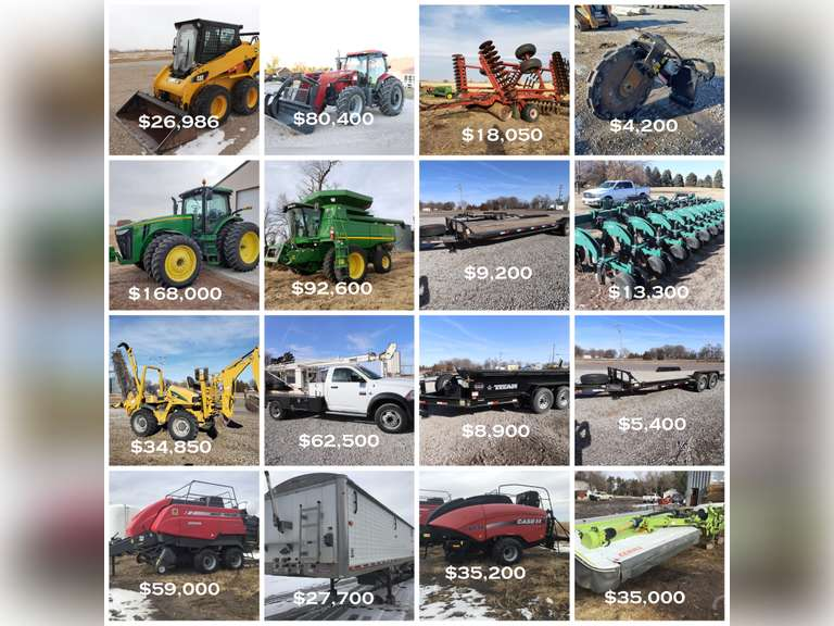 May 25th Online Equipment Auction