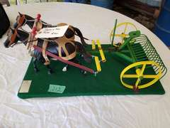 Breyer Horses W/Parker Built Dump Hay Rake