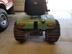 JD 317 Hydrostatic Tractor W/JD Snow Blower - Rear Chains