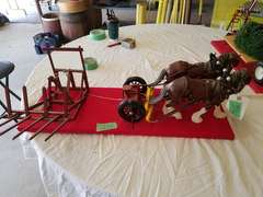 Breyer Horses W/Parker Built Overshot Hay Stacker