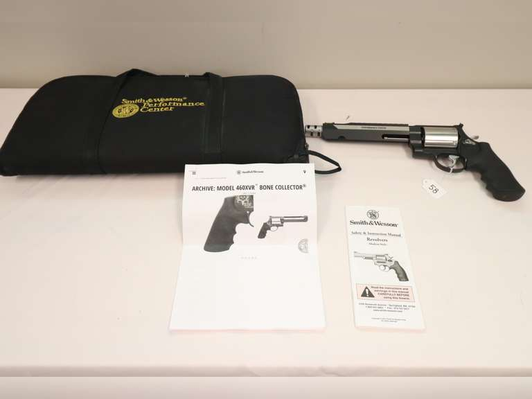 Smith & Wesson 460XVR Bone Collector Revolver (No. 1426 of 1500) - 460 S&W Mag - W/Case - SN:  CZC9066 - (Approx 40 Rds Shot) Ammo Available Next Lot - 58A