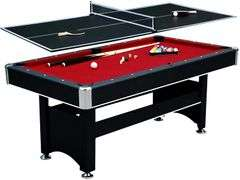 Spartan 6ft Pool Table w/ Table Tennis Top