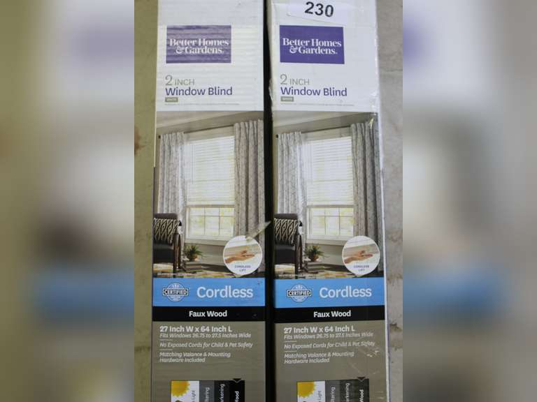 (2) 2in Cordless Window Blinds