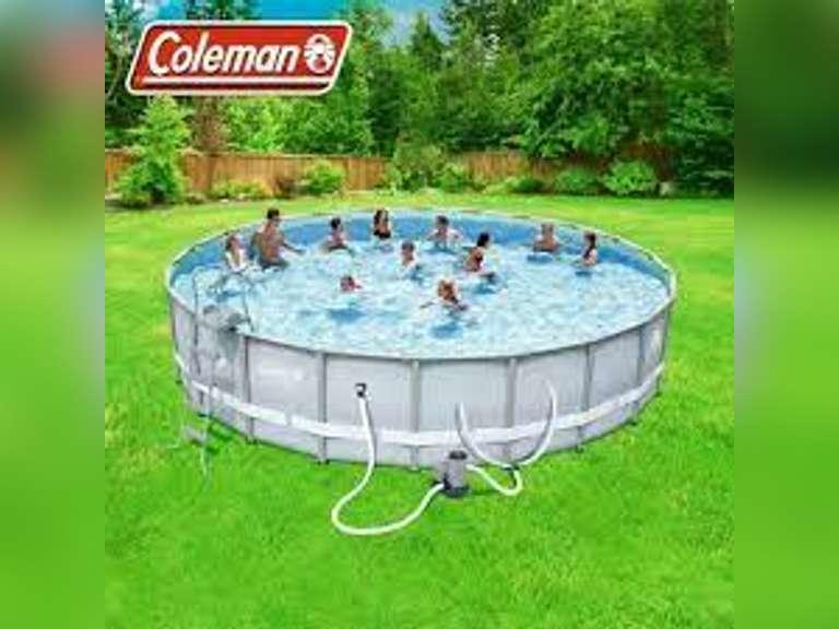 Coleman 22ft Power Steel Swimming Pool
