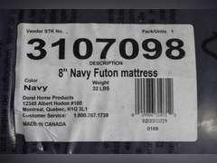 8in Navy Futon Mattress
