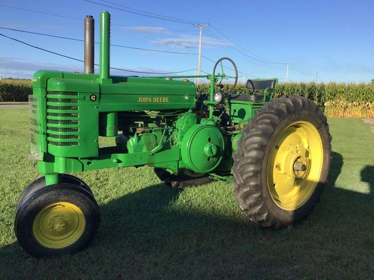 ONLINE ONLY AUCTION! 1952 JD G-JD EQUIPMENT-HONDA MOTORTRIKE-TOOLS-CAST IRON-PRIMITIVES & MORE!