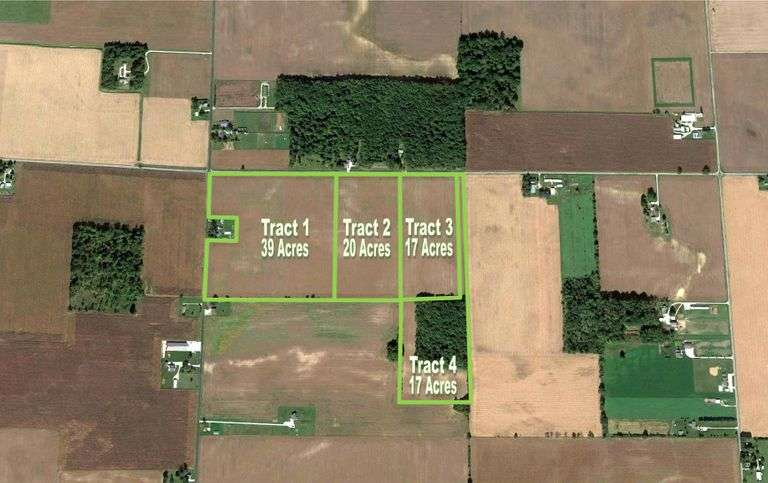 93+/- ACRES OF QUALITY CROPLAND & RECREATIONAL WOODS OFFERED IN 4 TRACTS!