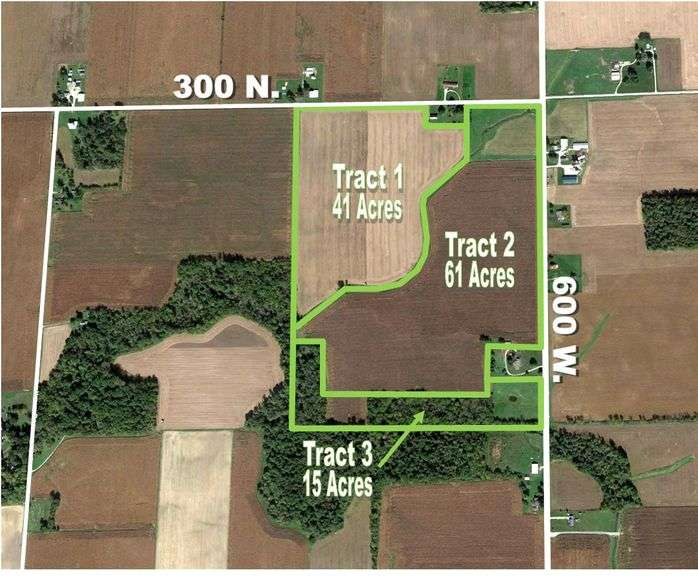 THE RHEA HOPPES ESTATE AUCTION! 116+/- ACRES OF QUALITY CROPLAND OFFERED IN 3 TRACTS!