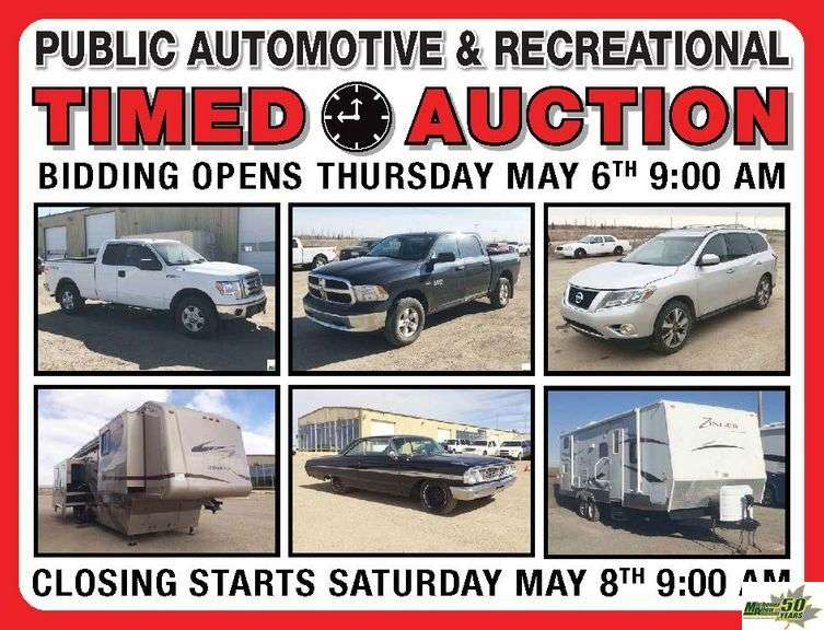 May 8th Timed Automotive Auction GST # R119899250