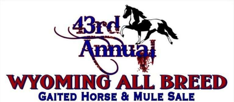 43rd Annual WY All Breed Gaited Horse & Mule Sale 2021