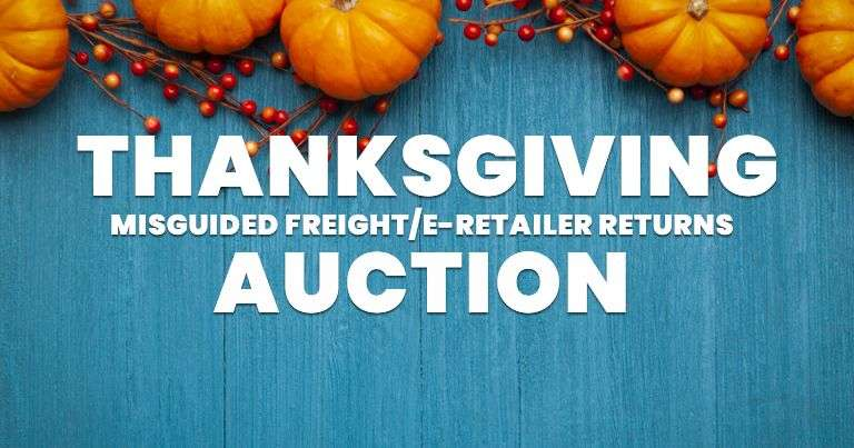 Thanksgiving Monday Misguided Freight/E-Retailer Overstock & Returns