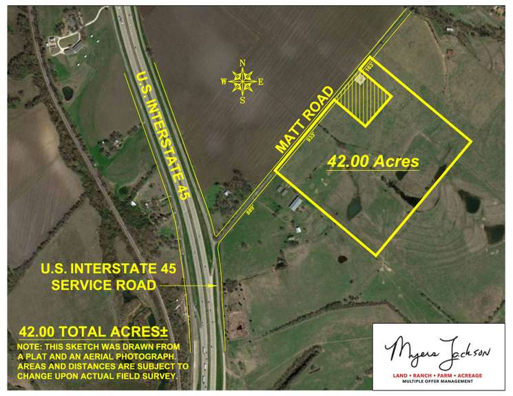 42ac Property Auction Ellis Co. Texas - Matt Rd Offered Divided or Whole