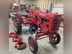 1939 Farmall A tractor, restored, Vintage barbershop equipment/collectibles, furniture, and more.