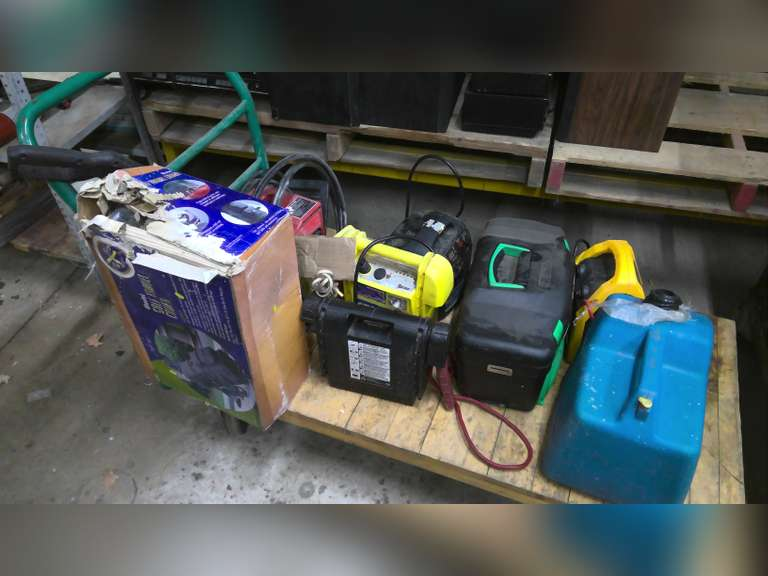 WATER COOLER, JUMP BOXES, PRESSURE WASHER & MISC