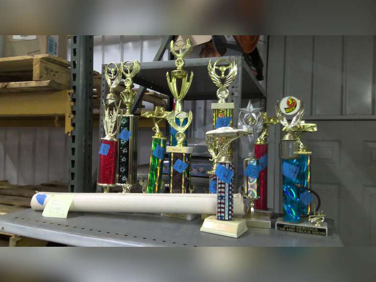 LOT OF OLD CAR TROPHIES