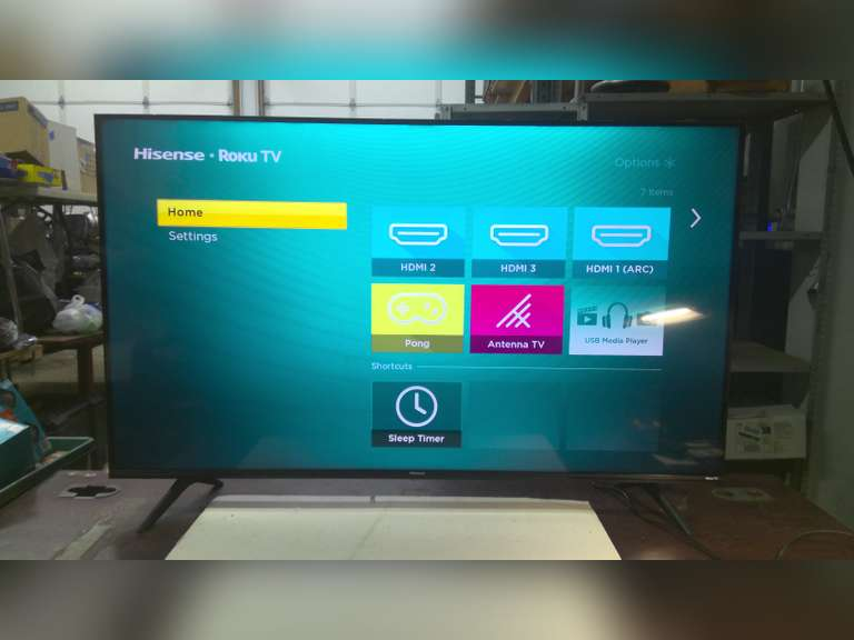 WORKING 50 INCH TV, HAS STAND, NO REMOTE