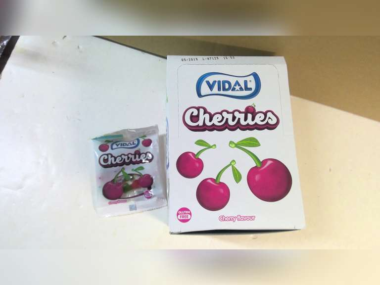 NEW BOX OF CHERRY FLAVOUR CANDY