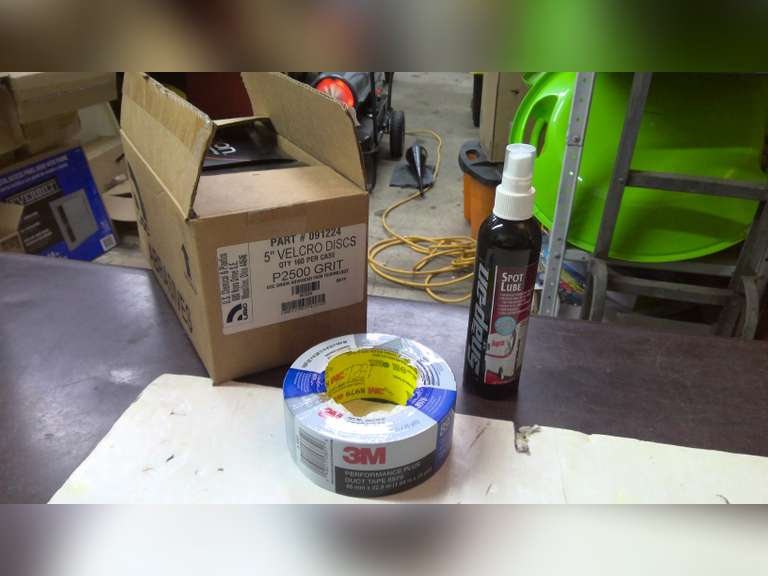 """NEW 3M DUCT TAPE, SNAP ON SPOT LUBE AND 5"""" VELCRO GRIT, $1.00 STARTS BID"""