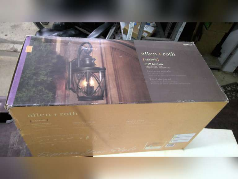 NEW OUTDOOR WALL LANTERN, JEWELRY AND MISC