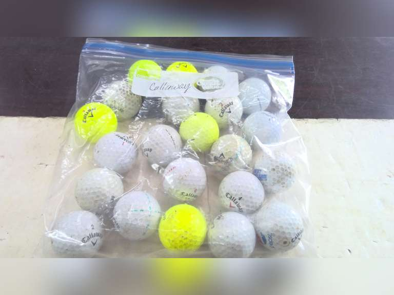 LOTS OF USED GOLF BALLS, CALLAWAY, TITLEIST, TAYLOR-MADE, NIKE AND MORE