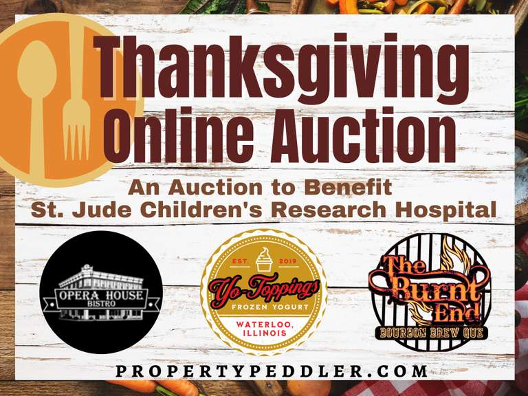 Thanksgiving Online Auction for St. Jude Children's Research Hospital