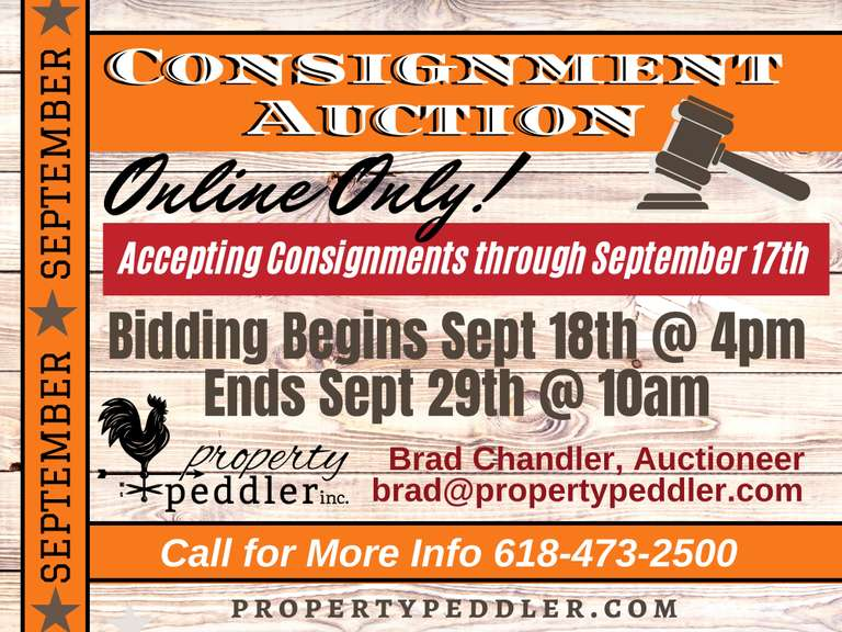 SEPTEMBER ONLINE CONSIGNMENT AUCTION