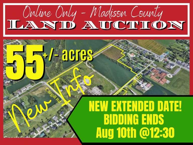 Online Land Auction 55 +/-  Acres  Madison Co.