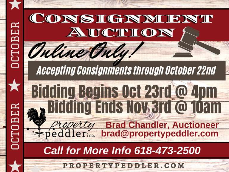 OCTOBER ONLINE CONSIGNMENT AUCTION