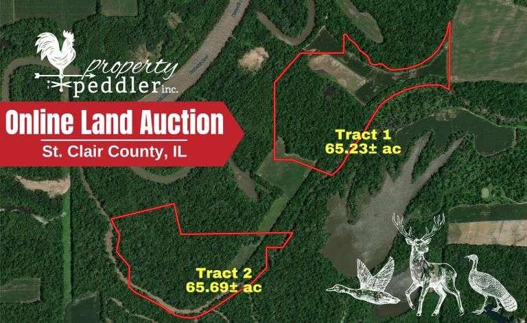 Online Land Auction: 130.92  +/- acres -  St Clair County, IL