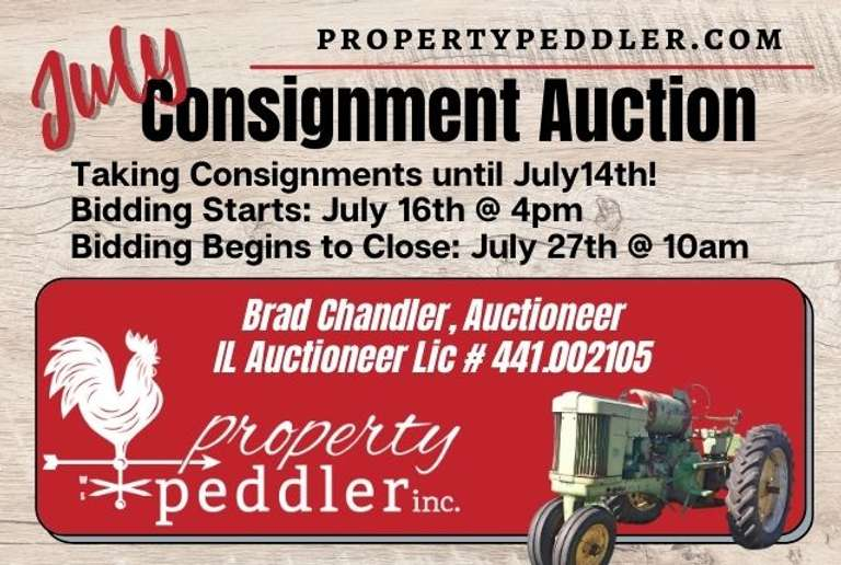 July Consignment Auction, 2021