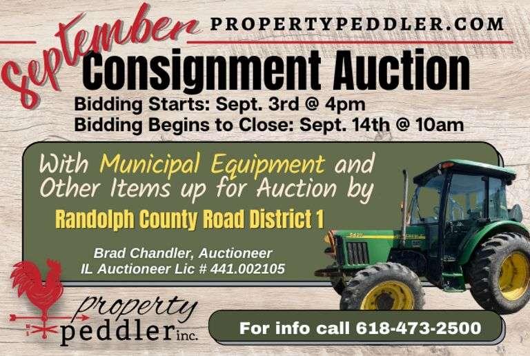 September Consignment Auction & Public Municipal Auction